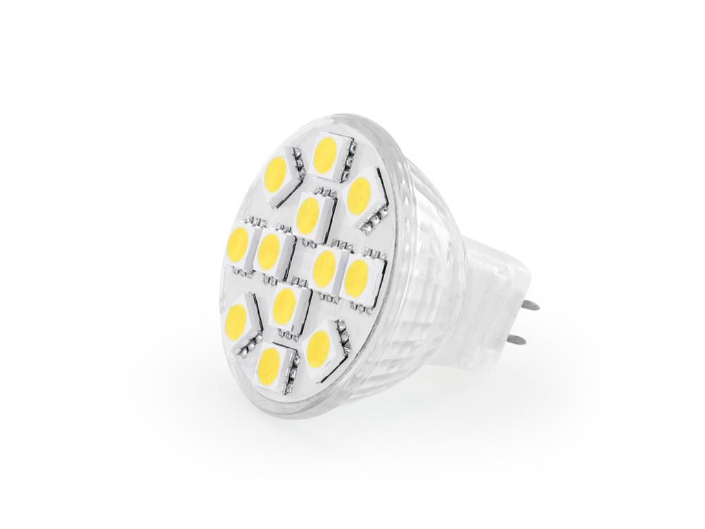 whitenergy led spotlight 12xsmd 5050 1 8w gu4 12v tepl b l. Black Bedroom Furniture Sets. Home Design Ideas