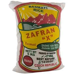 Zafran rýže basmati 5kg