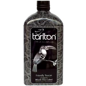 Tarlton Láhev Friendly Toucan černý čaj plech 150g