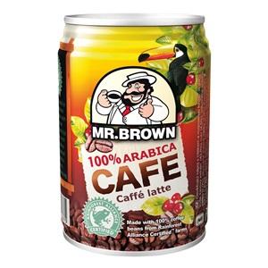 Mr. Brown Latte 100% Arabica plech 250ml