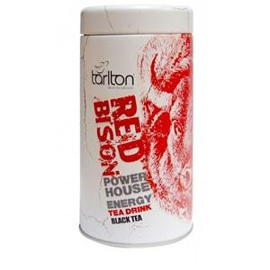 Tarlton Red Bison Energy černý čaj plech 100g