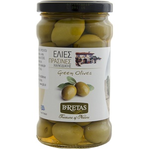 Bretas Olivy zelené Chalkidiki s peckou 300g