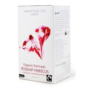 Hampstead Tea London šípkový čaj s ibiškem BIO 20ks