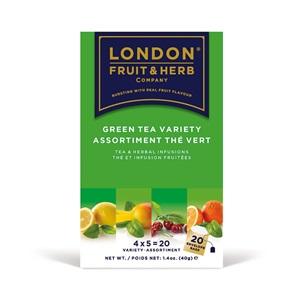 London Fruit & Herb výběr ochucených zelených čajů 20x2g