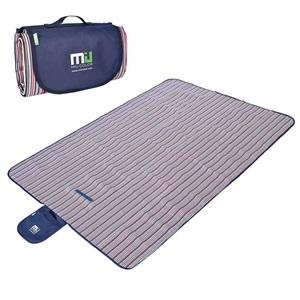 Miu Color pikniková deka dvouvrstvá 145x200cm pruhovaná