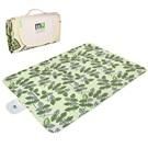 Miu Color pikniková deka dvouvrstvá 145x200cm zelené listy