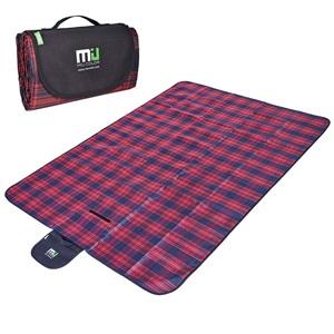 Miu Color pikniková deka dvouvrstvá 145x200cm červeno modrá