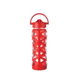 Lifefactory láhev s Axis uzávěrem červená sklo 650ml
