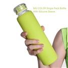 Miu Color láhev se silikonovým obalem zelená sklo 475ml