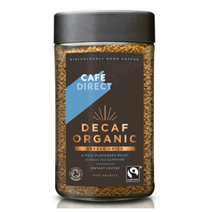 Cafédirect instantní káva arabika bez kofeinu BIO 100g
