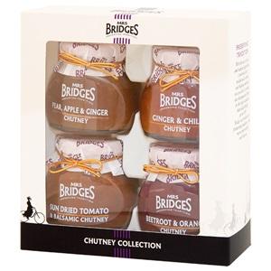 Mrs. Bridges Chutney omáčky v dárkové sadě 4ks 400g