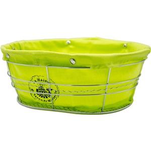 La Maison Košík látkový ovál zelený citrón