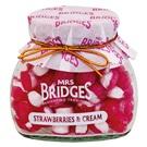 Mrs. Bridges bonbony jahody se smetanou sklo 155g