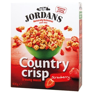 Jordans Country Crisp Cereálie s jahodami 400g