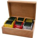 Ahmad Tea černé čaje prezentér dřevo konvička 6x10x2g