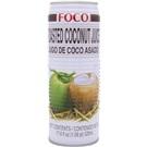 FOCO pražený kokosový džus s kousky kokosu plech 520ml
