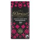 Divine hořká čokoláda s malinami 70% 90g