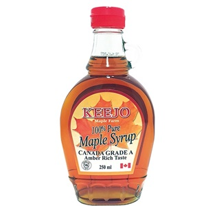 Keejo javorový sirup grade A Amber sklo 250ml