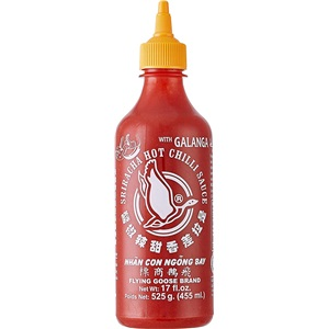 Flying Goose Sriracha s galangalem chilli omáčka 455ml
