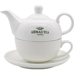 Ahmad Tea čajový set konvička s hrnkem bílý 480ml