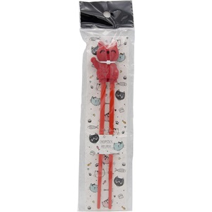 Shin jídelní hůlky dětské červená kočička