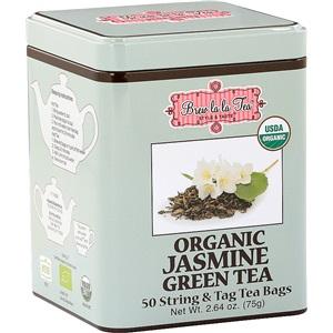 Brew La La zelený čaj jasmínový BIO 50x1,5g