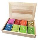Hampstead Tea luxusní dřevěná kazeta 8 druhů přířodní 80x2g