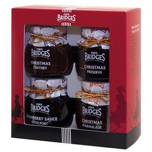 Mrs. Bridges vánoční sada omáček a džemů 4x110g