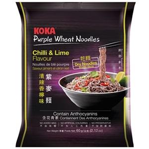 Koka fialové nudle Chilli s limetkou 60g