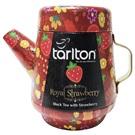 Tarlton Royal jahodový černý čaj konvička plech 100g
